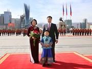 越南国家副主席邓氏玉盛对蒙古国进行正式访问(组图)