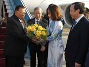 老挝人民革命党中央总书记、国家主席本扬·沃拉吉抵达河内 开始对越南进行正式友好访问(组图)