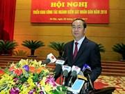 越南国家主席陈大光出席2018年人民检察部门工作任务部署会议( 组图)