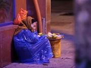无家可归者抵御寒冷