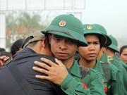 越南新兵入伍场景(组图)