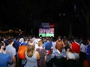 河内球迷相聚共同观看2018年俄罗斯世界杯(组图)