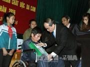 越南祖国阵线中央委员会主席阮善仁春节前夕走访南定省