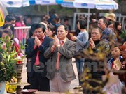 越南南定省陈庙开印仪式吸引数万名游客参加