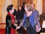 越南国家副主席会见法越议员友好小组主席