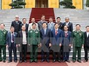 越南国家主席张晋创会见曾获胡伯伯接见的少年代表团