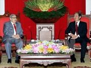 越共中央书记处常务书记丁世兄会见法国共产党常务委员会协调员让·查尔斯·内格雷
