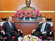 越南祖国阵线中央委员会主席阮善仁会见日越友好议员联盟特别顾问