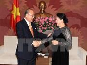 国会副主席阮氏金银会见日越友好议员联盟特别顾问武部勤