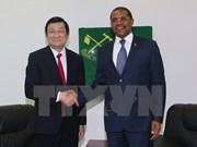 越南国家主席会见坦桑尼亚革命党主席