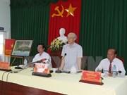 阮富仲总书记:前江省应采取及时及配套的干旱和海水入侵预防措施确保居民的生活和生产活动