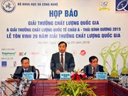 越南80家企业荣获2015年越南国家质量奖暨亚太国际质量奖
