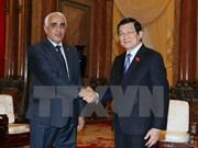 越南国家主席张晋创会见阿尔及利亚最高法院第一院长