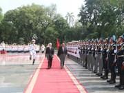 老挝人民革命党中央总书记、国家主席本扬·沃拉吉开始对越南进行正式友好访问