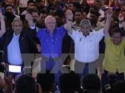 国民阵线党在马来西亚选举中获得绝对胜利