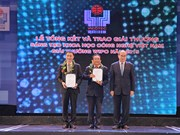 越南科技创新奖暨WIPO奖颁奖仪式在河内举行