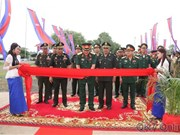 第七军区为柬埔寨皇家军队援建的工程项目落成