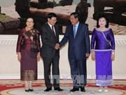 老挝总理通伦•西苏里对柬埔寨进行正式访问
