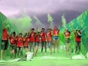 """""""彩色跑——Color Me Run""""活动在越南岘港市举行"""