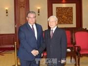 阮富仲总书记会见希腊共产党代表团
