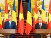 越罗两国发表联合声明就许多重要问题达成一致
