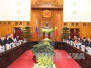 越南政府总理阮春福与斯洛伐克总理罗伯特·菲乔举行会谈