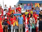 旅居波兰越南人举行集会 欢迎菲律宾东海仲裁案的最终裁决