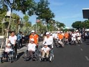 岘港市举行为橙剂受害者募捐步行活动