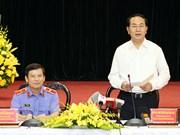 越南国家主席陈大光与最高人民检察院领导举行会议