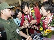 越南迎接载誉归国2016里约奥运会越南体育代表团