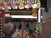 泰国两座越南寺庙新加悬挂越南语牌匾