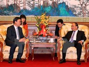 阮春福总理会见中国基础设施建设大型企业领导
