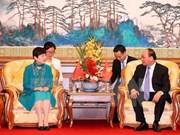阮春福总理会见中国人民对外友好协会和中越友好协会代表
