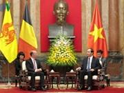越南国家主席陈大光会见比利时瓦隆大区及法语区联邦首席大臣鲁迪·德莫特