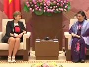 越南国会副主席丛氏放会见丹麦议会代表团