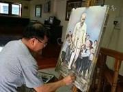 越裔泰国人画中的胡伯伯形象
