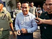 柬埔寨反对党救国党议员温森安被判处有期徒刑两年六个月