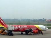 越捷航空公司正式开通河内至釜山直通航线