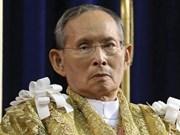 越南国防部长吴春历向泰国国王敬献花圈