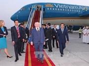 爱尔兰共和国总统和夫人开始对越南进行国事访问