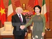 越南国会主席阮氏金银会见爱尔兰总统迈克尔•希金斯