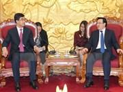 越共中央对外部部长会见中国共青团中央代表团