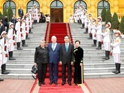以色列总统与夫人开始对越南进行国事访问(组图)