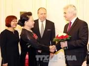 越南国会主席阮氏金银访捷克期间开展的会见活动