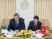 越南通讯社社长与阿尔及利亚通讯社社长举行会谈