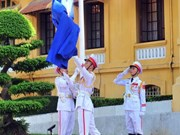 2017年东盟旗升旗仪式在河内和胡志明市举行