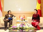 亚太议会论坛第26届年会:越南国会领导人会见国际客人(组图)