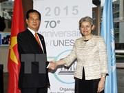 阮晋勇总理会见联合国教科文组织总干事伊琳娜.博科娃