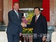 越南党和国家领导会见外国客人