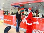 越捷航空公司推出庆祝圣诞节和新年活动